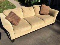 Beige Brown Couch