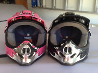 Two youths helmets for sale