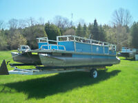 24ft Pontoon with trailer and 90 motor. Call for details, 4200