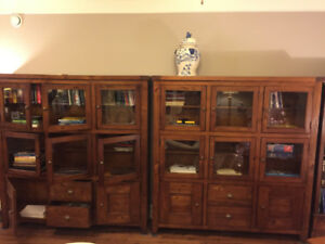 Bookcases/Shelves Stained Pine $1000 for 2 or $600 each