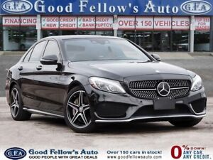 2016 Mercedes Benz C450 AMG Pkg, PANORAMIC ROOF, LEATHER & SUEDE