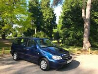 2003/53 Kia Sedona 2.9 CRDi LX Turbo Diesel 7 Seats 5 Door MPV Blue