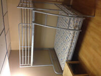 Twin over double metal bunk bed $290