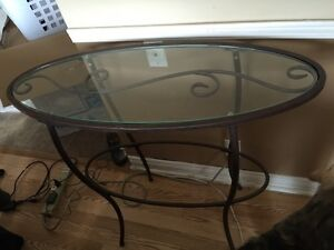 Iron & Glass Table