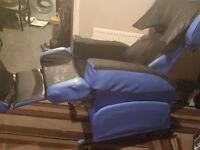 Hydroflex chair with pressure cushion for stroke or acute disabled patients