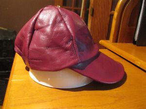 BRAND NEW LEATHER BASEBALL CAP FOR KIDS