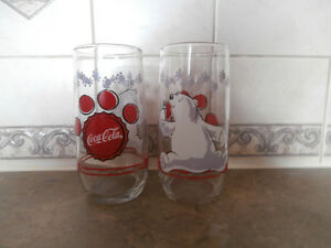 1999 Coca Cola Polar Bear Glasses