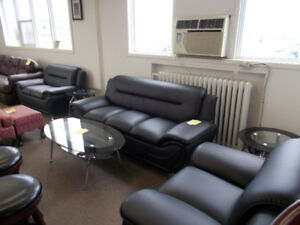 New sofas, love seats, and chairs Geat for offices.