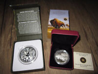 2013 $100 Bison and 2014 $200 Towering Forest - First Issues