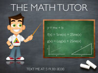 MATH TUTOR - BOOK NOW FOR THIS SEMESTER