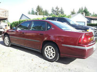 2001 Chevrolet Impala ls Sedan  1700.00 or best offer