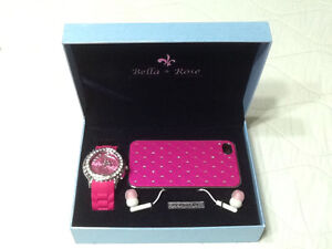 Puscha pink watch,earphone with iphone 4/4s .