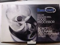 BeauMark Deluxe Stainless steel Food Processor (new in box)