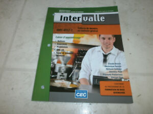MANUELS SCOLAIRES (3)-INTERVALLE -$10.00 - 450-669-5456