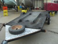 NICE 4.6 FT X 10 FT TRAILER WITH A FOLD DOWN RAMP