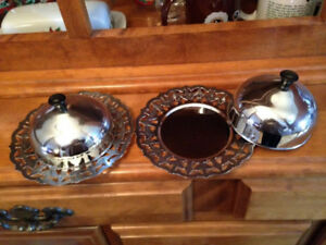 Vintage - Two Identical Round Butter Dishes