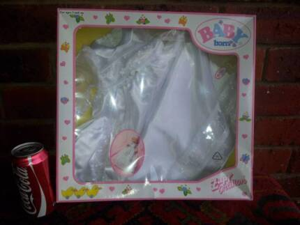 DOLL BABY BORN ZAPF CREATION - Baby Born Christening Outfit