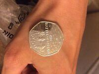 The Battle Of Britain 1940 50p Coin. Rare.