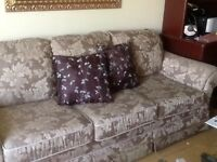 Sofa and wing chairs