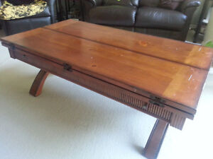 Unique Solid Wood Coffee Table (expandable)