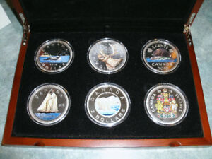 2016 Canadian Mint Big Coin series set and display case