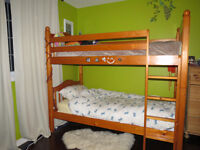 Bunk beds, solid wood, excellent quality, single