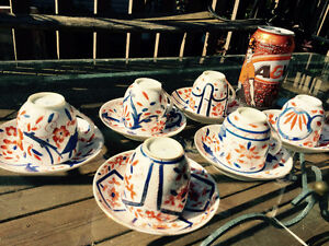 Six sets of old small teacups and saucers Kingston Kingston Area image 10