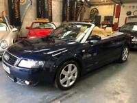 AUDI A4 1.8T SPORT Convertible Blue Manual Petrol, 2004 (54)