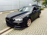 2001 Nissan Skyline R34 2.6 GTR. Twin Turbo Manual + Black + Rare Spec