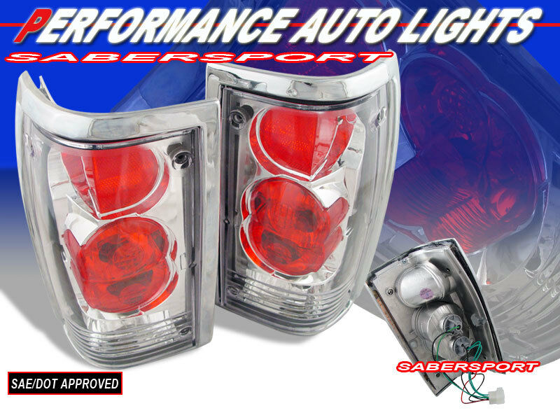 Set of Pair Chrome Altezza Style Taillights for 1986-1993 Mazda B-Series Pickup