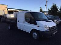 Ford Transit 2.4TDCi D/cab tipper 2010 10 Reg 115 Bhp 6 speed Only 1 fleet