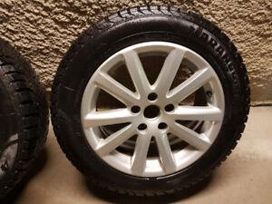 Winter set VW original wheels 205/55R16 pneus d'hiver
