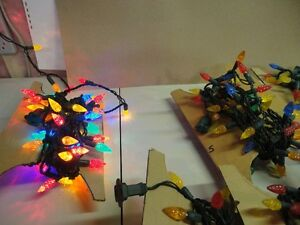 Eight sets of LED indoor Christmas tree lights