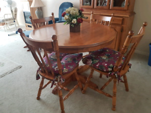 Maple Wood Dinning Table and Four chairs
