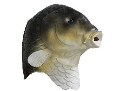 BROWN Fish CARP Mask Full Head Latex Fancy Dress Costume Animal Goldfish - Fish Mask Costume