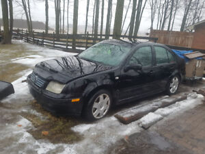 2001 Volkswagen Jetta Black Sedan
