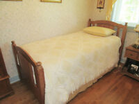 SINGLE / TWIN BED - Wood Frame / Mattress / Box Spring - NEW