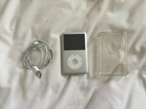 Apple iPod classic 7th Generation Silver (160 GB) with case