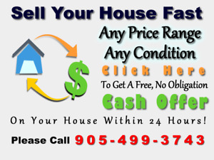 FAST CASH for YOUR Oshawa HOUSE. 100% guaranteed. Call us now!