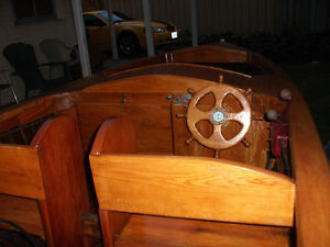Yellow Ala-skin Ceder strip,mahogany Beautiful boat trade? Cash!