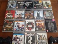 PS3 80GB with 2 controllers and 18 games!