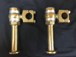 risers brass poghco 5 pouces
