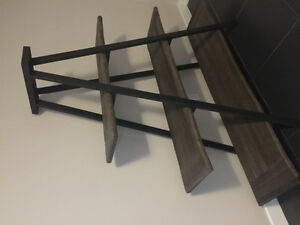 Urban barn weathered elm display shelf - paid $1000