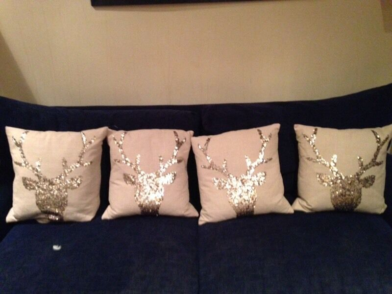 Next beige cushions with stag design in sequins in  : 86 from www.gumtree.com size 800 x 600 jpeg 53kB