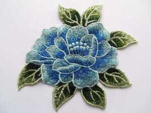 Bordado-encaje-guipure-parche-aplique-adorno-1-pieza-azul-verde