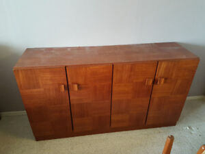 Mid century hutch, table and 6 chairs