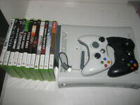 Xbox 360 with 11 games 2 controllers and wifi adapter