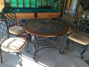Slate table with 4 chairs Peterborough Peterborough Area image 3
