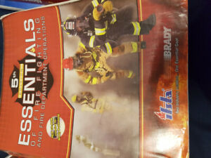 Firefighting and medical textbooks
