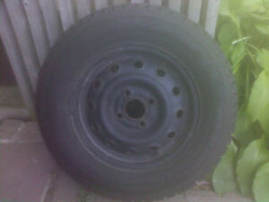 "Full set of 13"" (four bolt) winter wheels and rubber for sale"